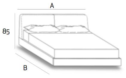 Sienna SN76 Platform Bed