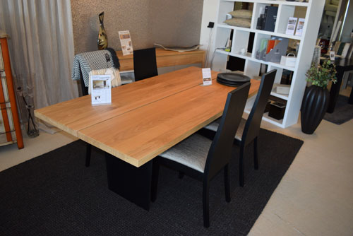 Slats Dining Table Solid in the C&J showroom