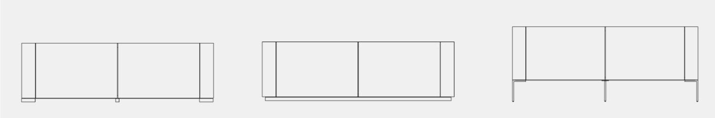 Brito sideboard feet options