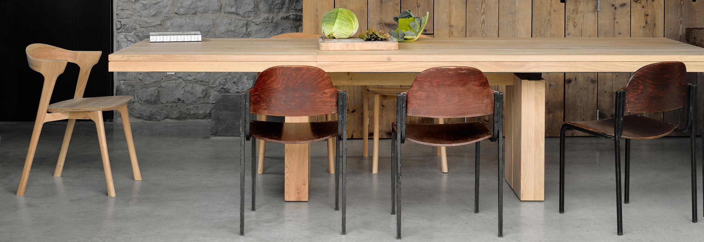 Double Dining table by Ethnicraft