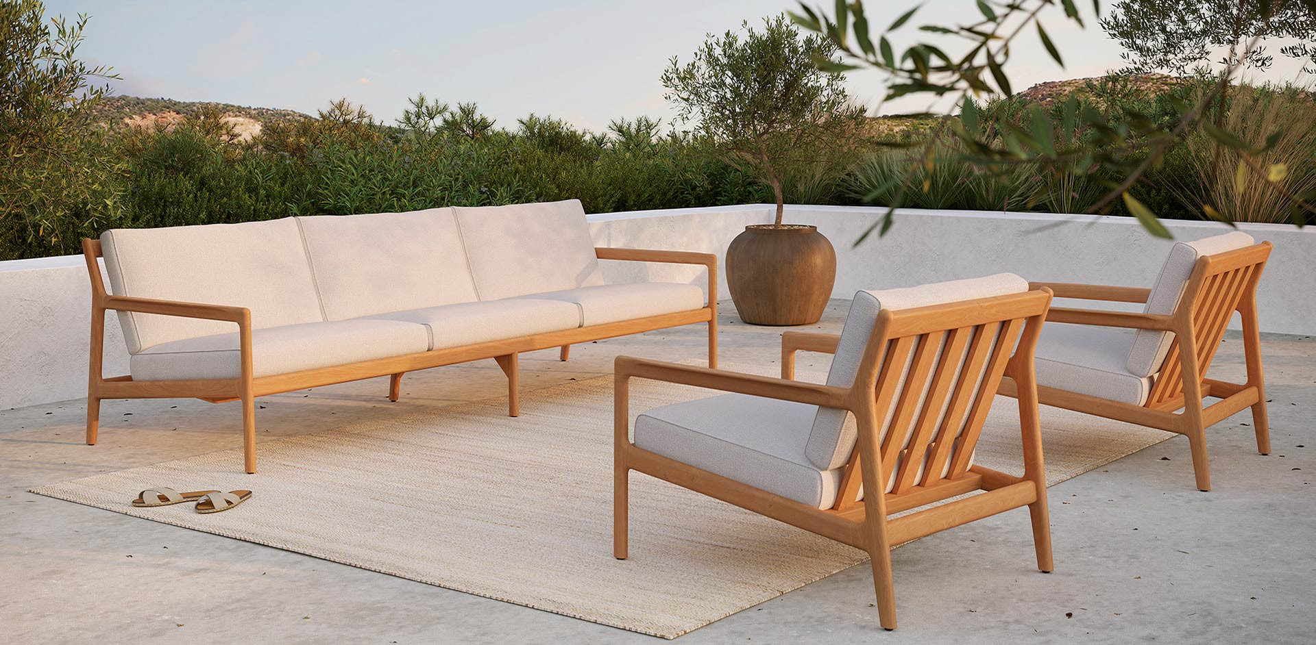 Jack Teak Exterior Furniture by Ethnicraft