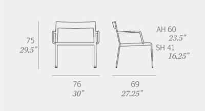 Easy Chair by Expormim - Dimensions
