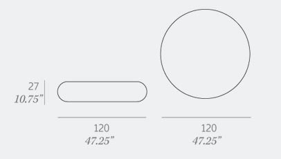 Expormim Coffee Table C960 Dimensions