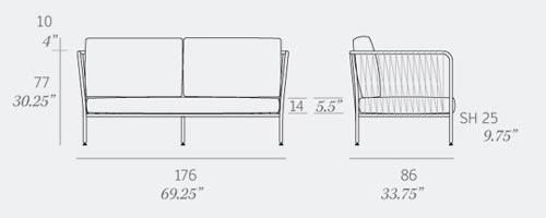 Nido Sofa Dimensions