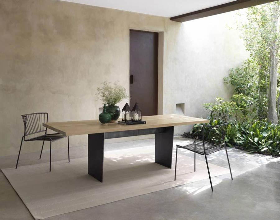 Slats Dining Table by Expormim
