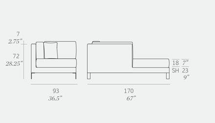 Slim Chaise Module