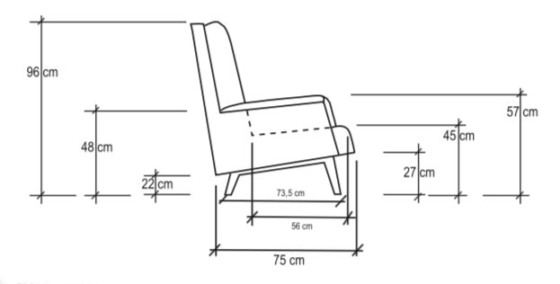 Isa Armchair Dimensions
