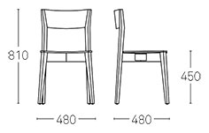 Miss Dining Chair Dimensions