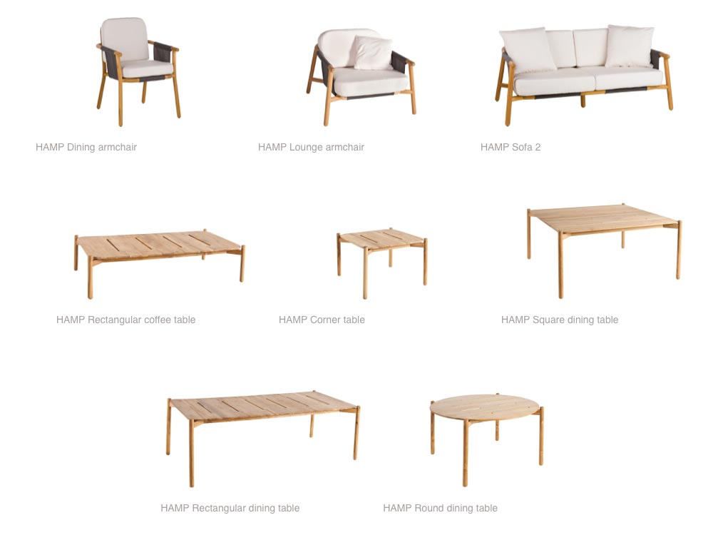 The Hamp range of exterior furniture by Point