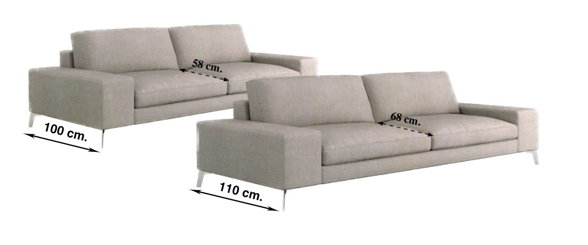 Zow and Izu Sofa Widths