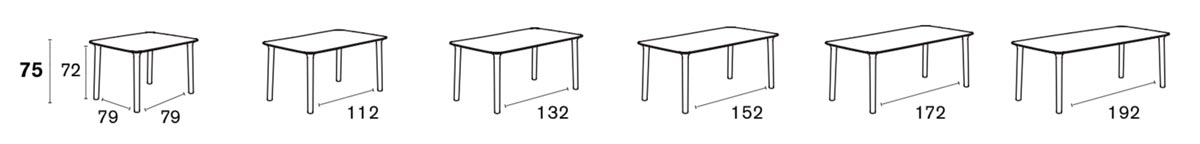 Roll Dining Table Specs